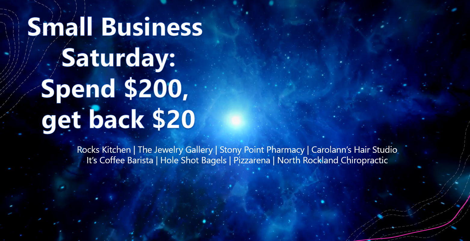 Small Business Saturday – $20 Back!